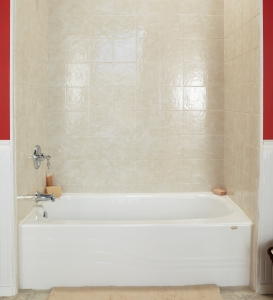 Biscuit Travertine Bath